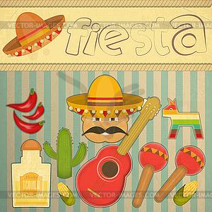 Mexican Fiesta - vektorisierte Grafik