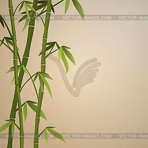 Hintergrund mit Bambusstämme - Vektor-Design