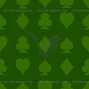 Nahtlose Muster mit Spielkarten Anzüge - Stock Vektorgrafik