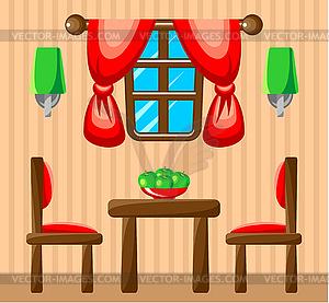 Esszimmerinnen - Vector-Illustration