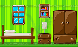 Schlafzimmer. Innere - vektorisiertes Clipart