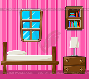 Schlafzimmer. Innere - vektorisiertes Bild