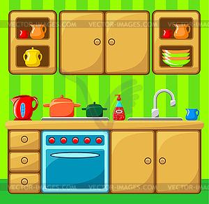 Interieur einer Küche - Vektor-Clipart / Vektorgrafik