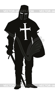 Crusader. Krieger Theme - Stock Vektor-Clipart