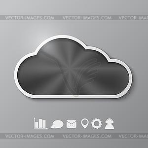 Abstrakter Hintergrund mit metallischen Wolke - Speicher - Stock Vektorgrafik