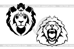 Löwenköpfe - Vektor-Clipart EPS