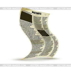 Alte Zeitung - Stock-Clipart