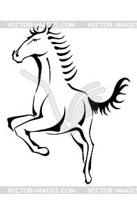 Schwarz Silhouette des Pferdes - Vector Clip Art