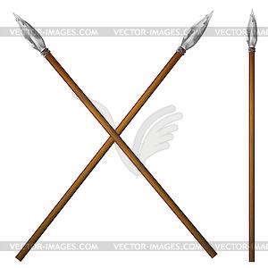 Spear Urmenschen - Vektor-Clipart / Vektorgrafik