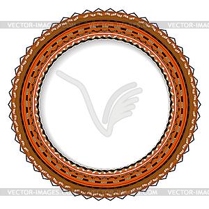 Geometrische dekorativen runden Rosette in der mexikanischen - Stock-Clipart