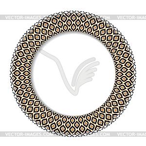 Geometrische dekorative runde Element mit Platz für - Vector-Design
