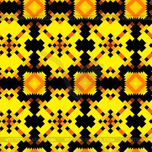 Nahtlose Textur mit Aztec Zeichnung - vektorisiertes Bild
