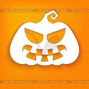 Halloween. White Silhouette der Kürbis mit siniste - vektorisiertes Design