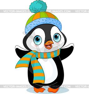 Netter Winter-Pinguin - Royalty-Free Vektor-Clipart