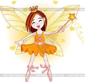 Wenig orange Fairy - Clipart