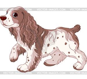 Spaniel Hund - Vektor-Klipart