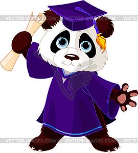 Panda Absolvent - Vektor-Skizze