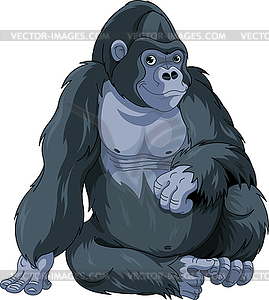 Sitting Gorilla - Clipart-Design