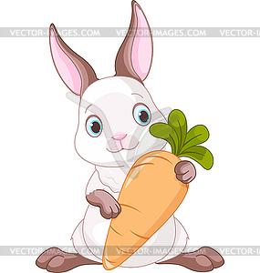 Hase mit Möhre - Vector-Clipart EPS