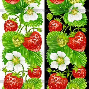 Erdbeere nahtlose vertikale Muster - Vector-Clipart EPS