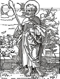 Heiliger Judas Thaddaeus - Clipart-Bild
