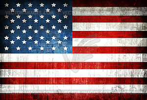 Amerikanische Flagge - Vektor-Illustration