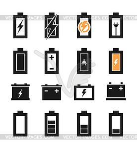 Batterie ein Symbol - Stock Vektorgrafik
