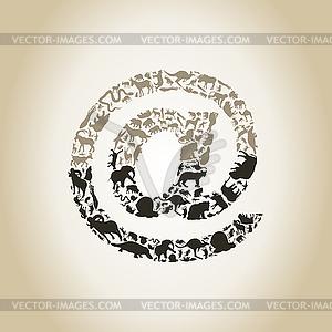 Mailen Sie ein Tier - vektorisiertes Clip-Art