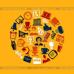 Office-Bereich - Vektor-Clipart / Vektor-Bild