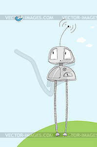 Cartoon-Roboter - Stock Vektorgrafik
