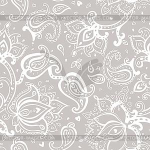 Nahtloser Paisley-Hintergrund - Vektor-Clipart / Vektor-Bild