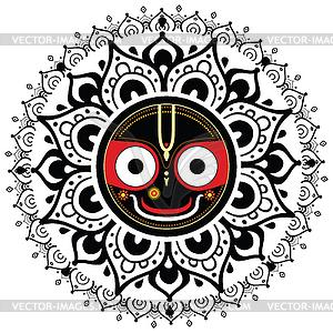 Jagannath. Indische Gott des Universums - Vektor-Design