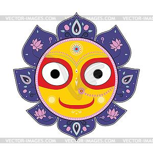 Jagannath. Indische Gott des Universums - Vector-Bild