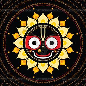 Jagannath. Indische Gott des Universums - Stock Vektor-Clipart
