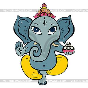 Hindu-Gott Ganesha - Vektor-Clipart / Vektorgrafik