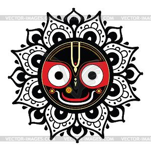 Jagannath. Indische Gott des Universums - Vektor-Bild
