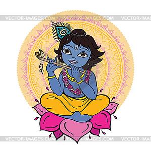 Hindu-Gott Krishna - vektorisiertes Clipart
