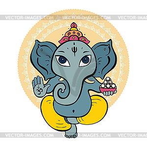 Hindu-Gott Ganesha - vektorisiertes Bild