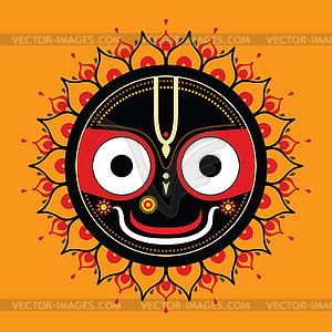 Jagannath. Indische Gott des Universums - Royalty-Free Clipart
