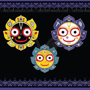 Jagannath. Indische Gott des Universums - Vektor-Illustration