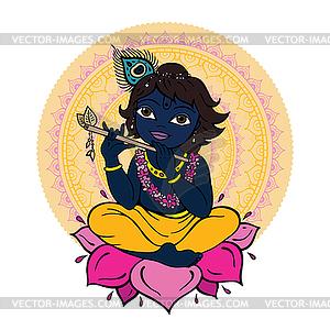 Hindu-Gott Krishna - vektorisiertes Design