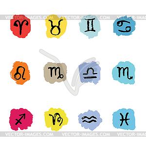 Horoskop Sternzeichen Sternzeichen, setzen - vektorisierte Abbildung