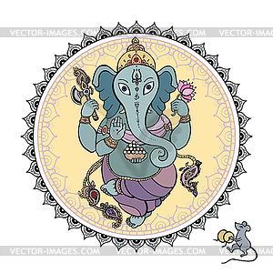 Lord Ganesha - vektorisierte Abbildung