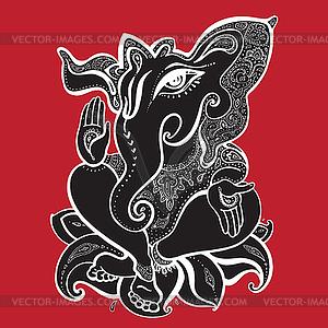 Ganesha - vektorisiertes Clipart