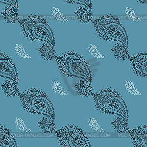 Nahtloses Paisley-Muster - Vektorgrafik-Design