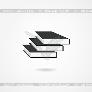 Buchsymbol - Vektor-Illustration