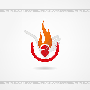 Feuerikone - Vektorgrafik-Design