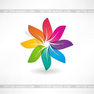 Abstrakten bunten Blätter Symbol - vektorisiertes Clip-Art
