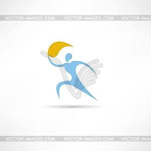 Mann mit Fackel Symbol - Vektor Clip Art