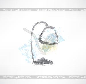 Tischlampe Grunge-Ikone - Royalty-Free Vektor-Clipart